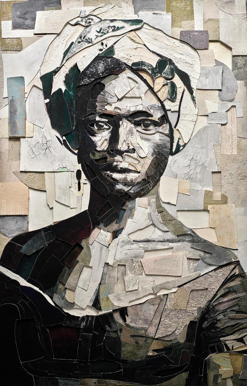 Vik Muniz - Black Woman in a Turban. After Alberto Henschel