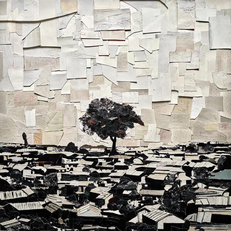 Vik Muniz - Tree (Refugee Camp)